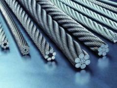 Канат стальной DIN 3054, DIN EN 12385-4, ISO 2408 конструкция 1x37(1+6+12+18)
