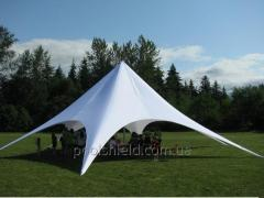 Shield tent for bars, lounge bars, restaurants,