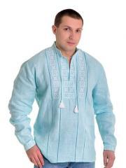 Рубашка вышитая крестиком и украшенная мережкой