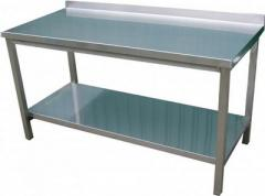 Tables from a stainless steel from the producer