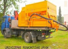 Installation for repair of roads, the repair