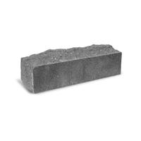 Кирпич Скала 1 серый на белом цементе