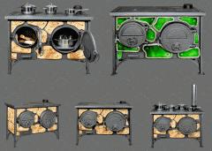 Отопительно-варочная бытовая печь-плита...