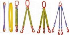 Askılar, kırmızı kurdele, genişliği 150 mm, kapasite dokuma 5-12,5 ton, türü: STK, STP, izler, 2ST, 4ST