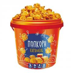 Ready karamelizirovanny popcorn in packaging, 1 l