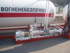 Automobile gas module, automobile gas-filling