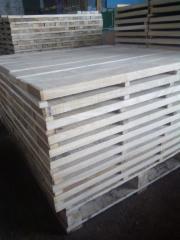Timber from an oak, needles, birches