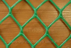 Пластиковая сетка для забора (ячейка 30х30 мм) ромбовидная