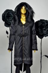 Куртка удлиненная на натуральном меху по