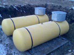 Autonomous gas supply of a boiler room propane-butane