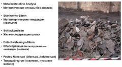 Агломерирование отходов металлургического завода / плавление