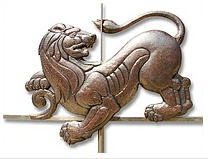 Weather vane from copper - the Lion