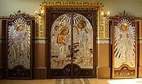 Кованые церковные двери из булата