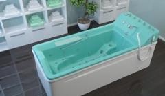 Bathtub with underwater a shower massage the
