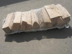 Дубовые дрова колотые камерной сушки 25см сетка