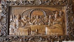 Icon handmade wood carvings