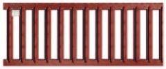 Решетка из оцинкованной стали цвета терракот Асо drain euroline 0,5м для лотка из полимербетона Асо self Артикул 310306