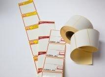 Термоетикетки, термотрансферні етикетки
