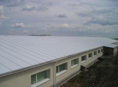 Roof from a sandwich panels