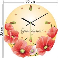 """Акриловые часы, """"Єдина країна"""" код 3А-2-35х35-Н"""