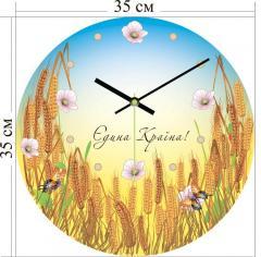 """Акриловые часы, """"Єдина країна"""", код. 3А-3-35х35"""