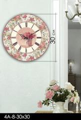 Акриловые часы, код 4А-8-30х30