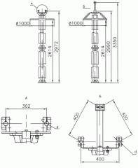 Шинные опоры на базе изоляторов серии