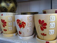 The ceramics is household, flowerpots
