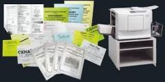 Replication, photocopy, listing, books of the