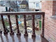 Granite handrail, rail-posts, ladder marches to