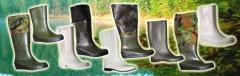 Обувь резиновая, непромокаемая
