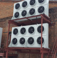 Cooling condensers air