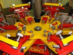 Шелкотрафаретный карусельный станок 3х3, модульная конструкция