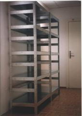 The rack is archival galvanized