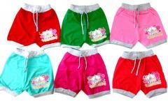 Шорты Hello Kitty на 4-6 лет, в рост. 3 шт.