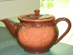 Clay scalded teapot.