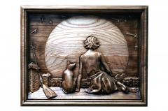 """Pictures carved on a tree. Work with """"Marg"""