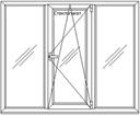 Metalplastic window, tryokhchasny 2000x1500