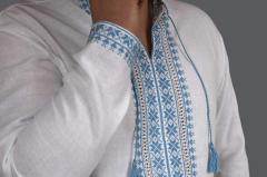 Man's embroidery of quality handwork of