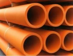 Pipes are polyethylene sewer