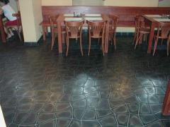 Coverings floor of basalt, a tile basal