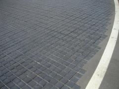 Pavings from basalt, a tile basal