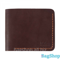 Компактное кожаное портмоне с брелком в подарок