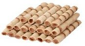 Wafer rolls with stuffing dark Chocolate and