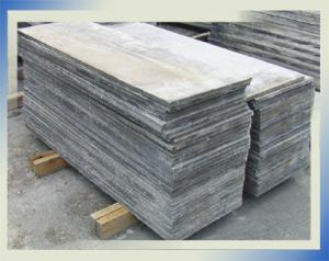 Strips for beds from asbestos-cement sheets, a