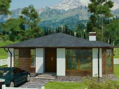 """Project of the house """"Helios"""", 89,03m ²"""