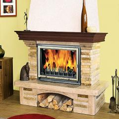Fireplace from sandstone
