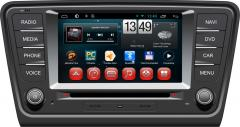 Штатна магнітола Skoda  Octavia A7 Android Red
