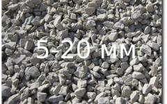 Щебень гранитный 5*20 неорганический зернистый