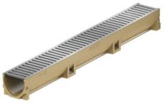 Канал с решеткой с оцинкованной стали Aco self mini длина 1м ширина 13см высота 5,5см артикул 401206 Германия